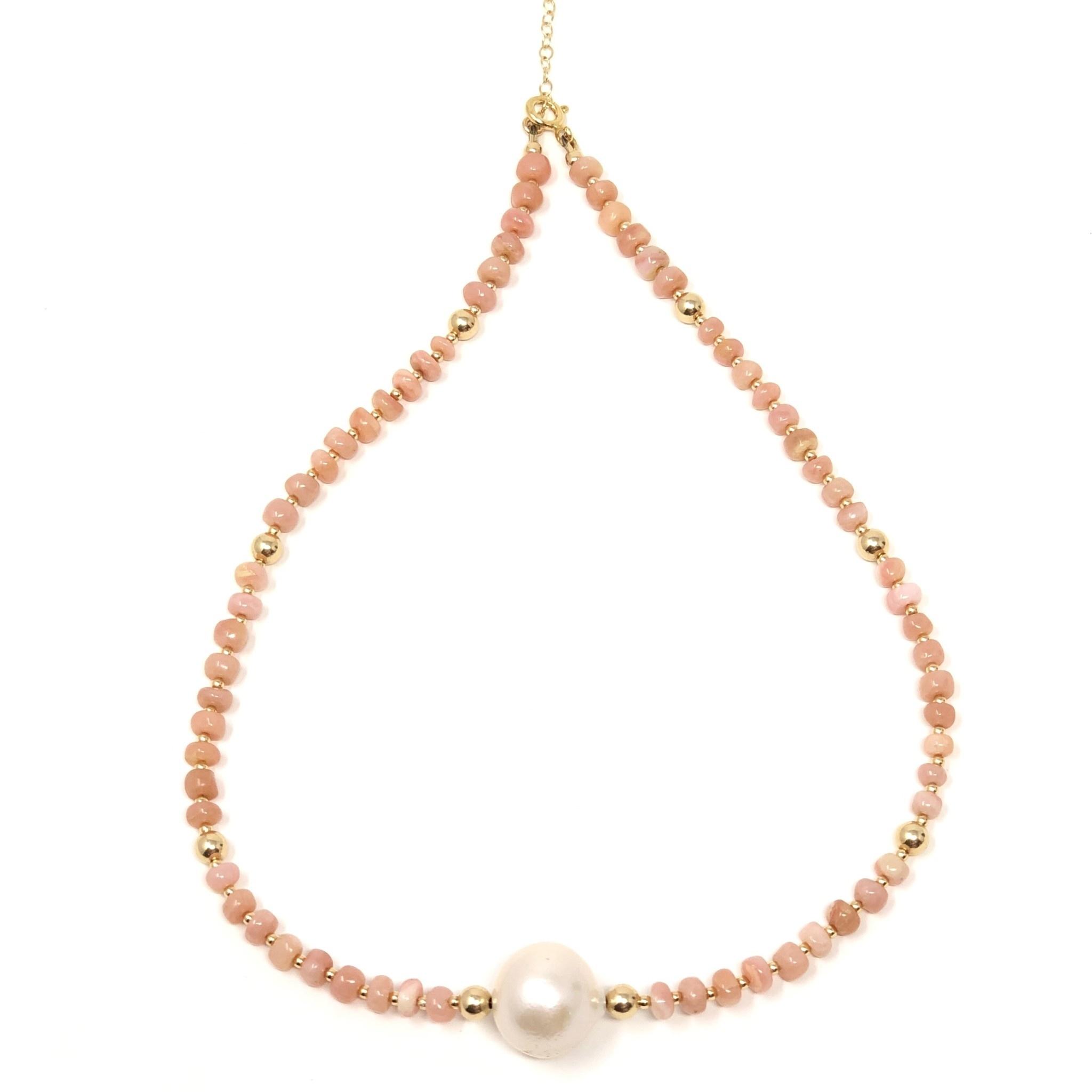 Conch & Baroque Pearl Necklace