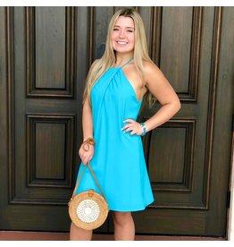 Mia Turquoise Halter Dress