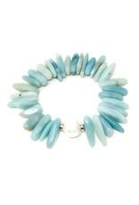 Stick Amazonite & FWP Bracelet