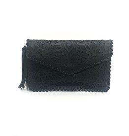 Black Filigree Clutch