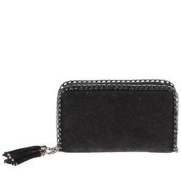Black Double Clutch Wallet