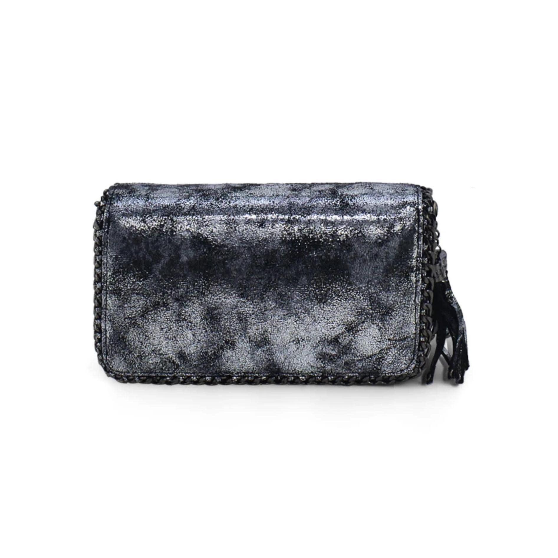 Silver Double Clutch Wallet