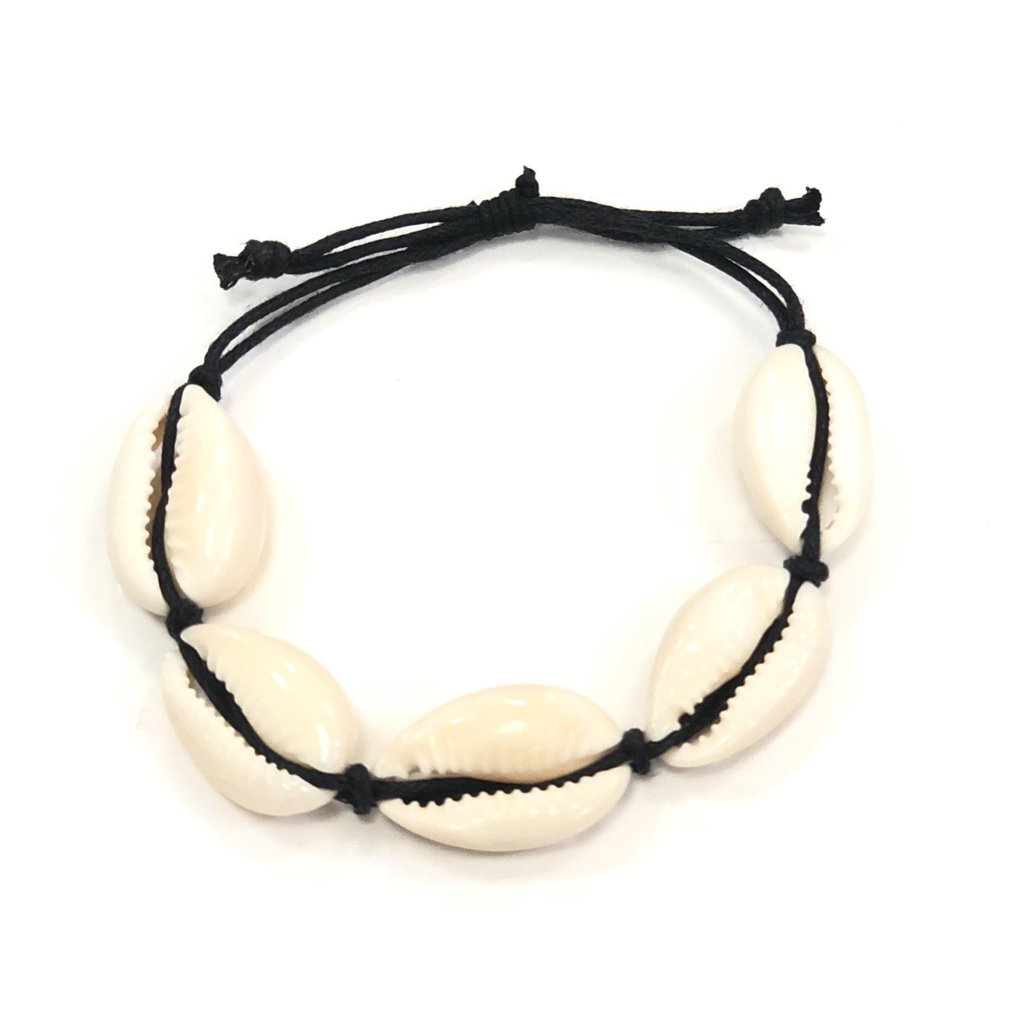 Cowrie Drawstring Bracelet