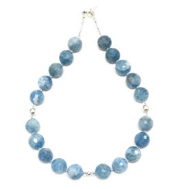 Faceted Aquamarine & Swarovski Necklace