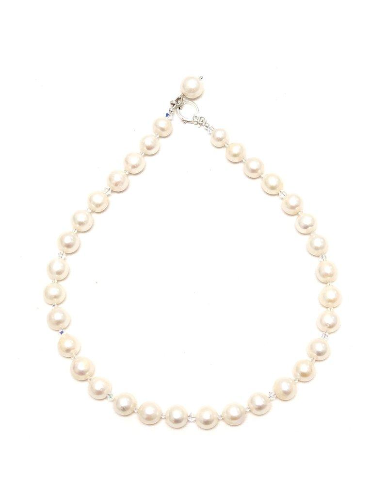 Pearl & Swarovski Lariat/Necklace