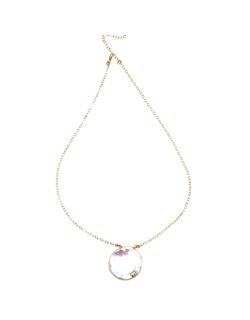 Round Keshi Petal Pearl on GF Chain