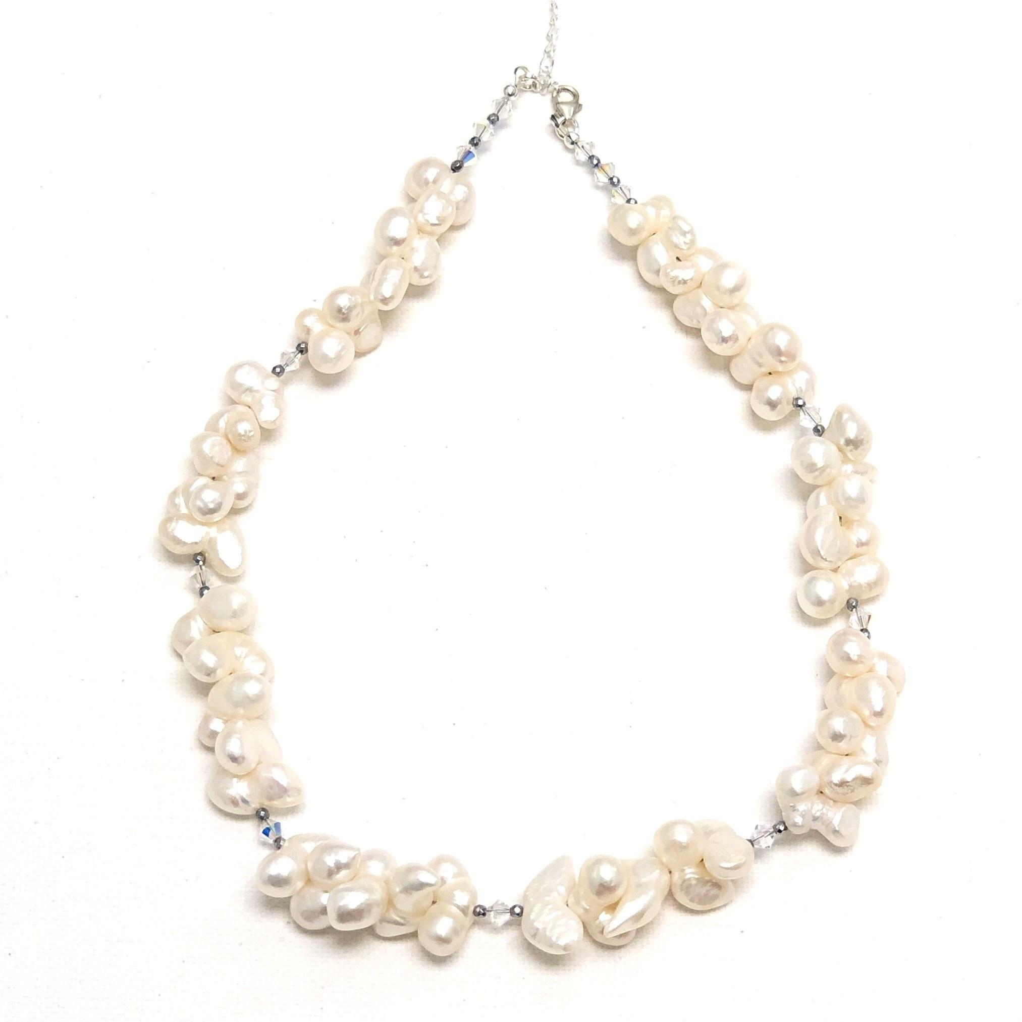 Blister Pearl & Swarovski Necklace