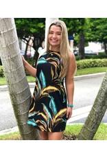 Gilded Leaves Shift Dress