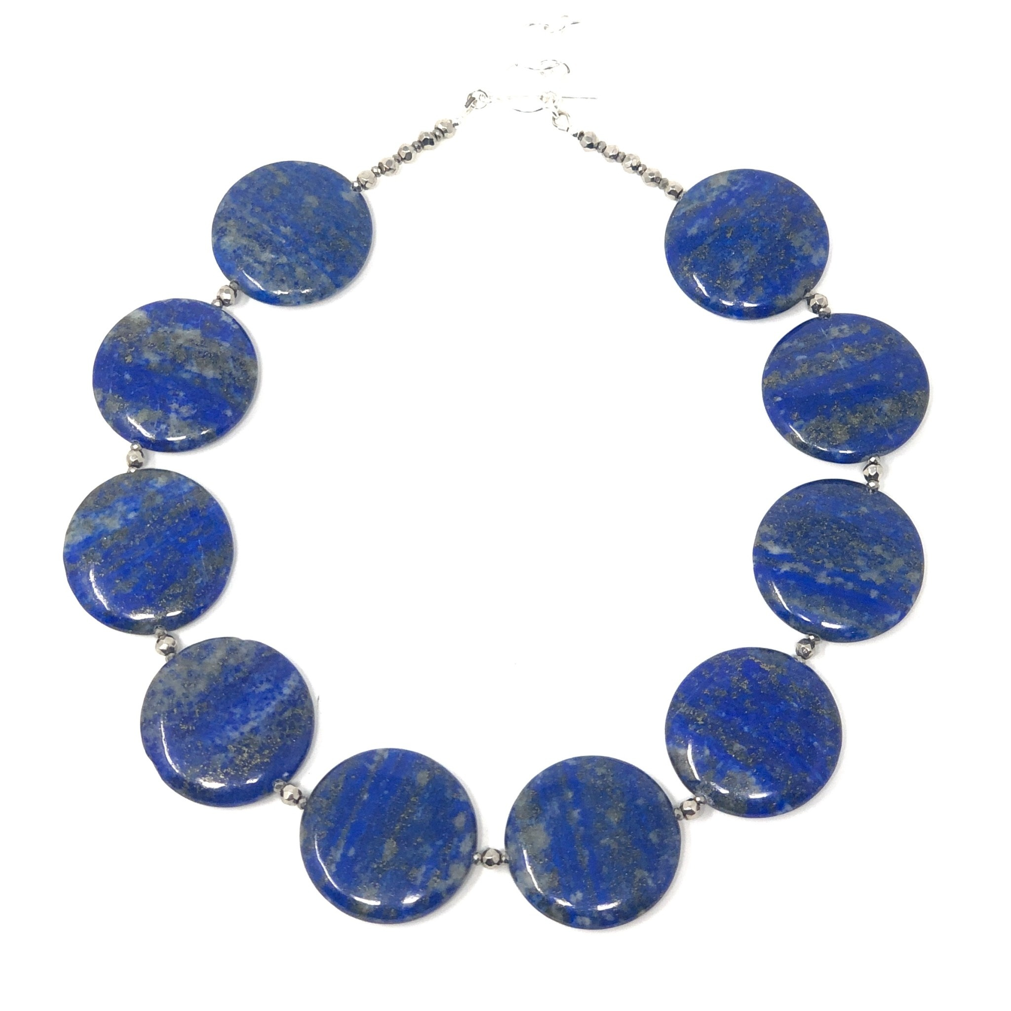 Round Lapis Necklace