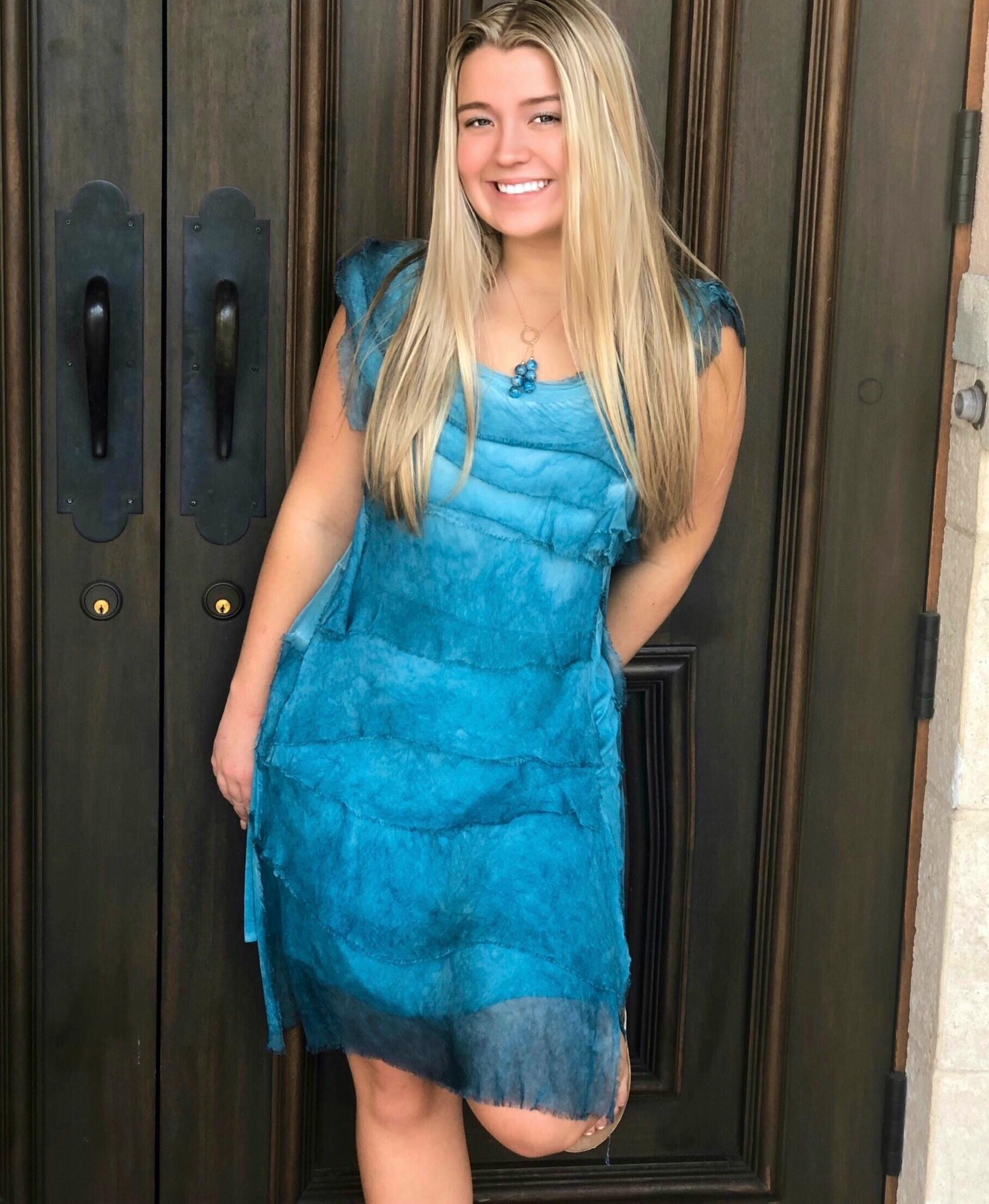 Teal Flutter Dress