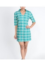 Aryeh Teal Kylie Shift Dress