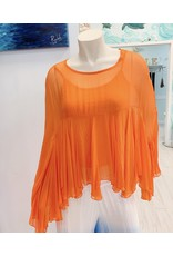 Orange Boho Silk Top