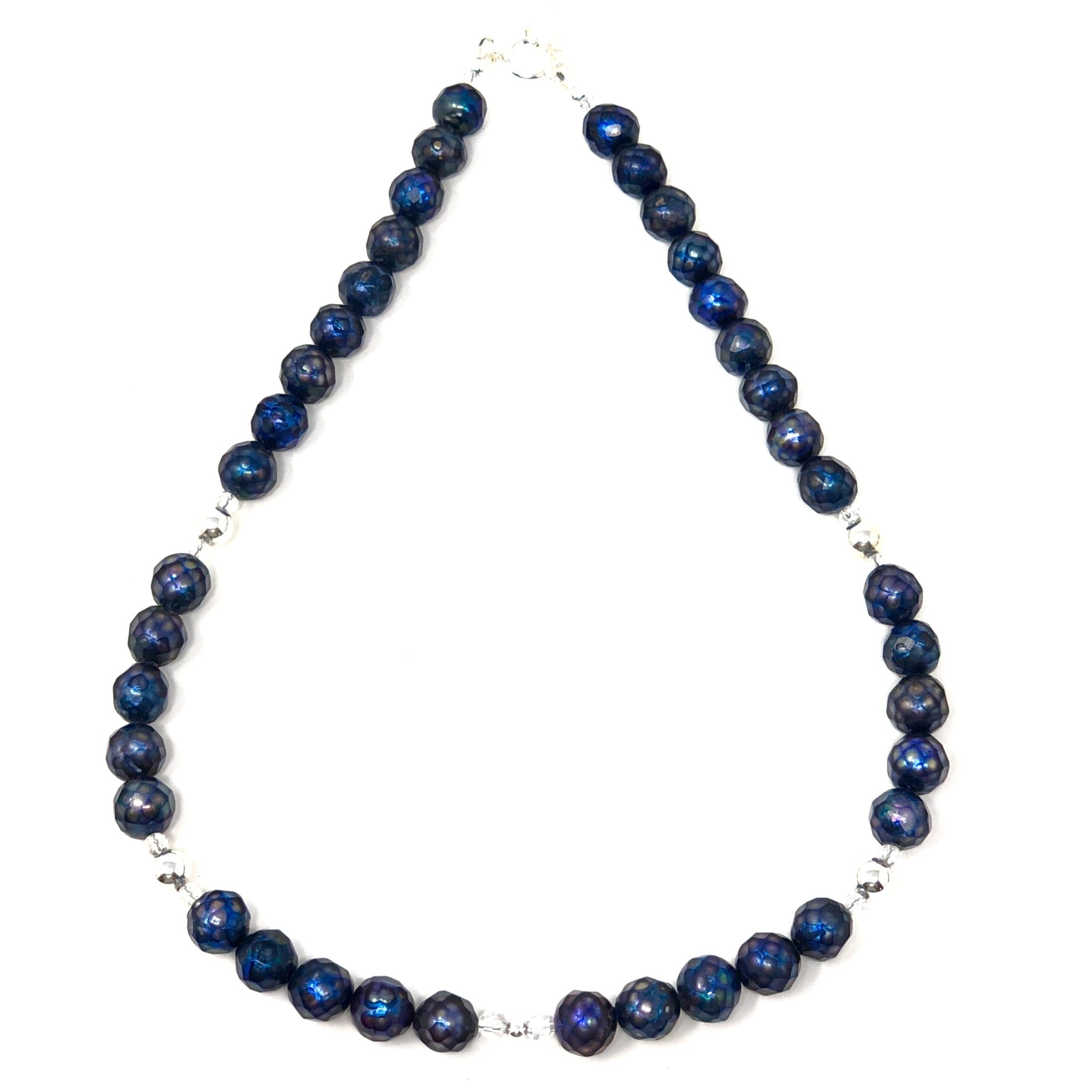 Fct. Navy FWP & Sterling Necklace