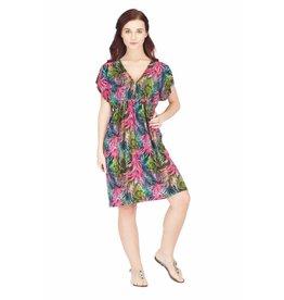 India Boutique Tropical Kimono Dress