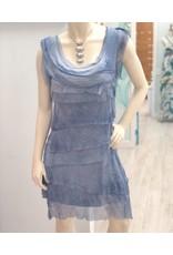 Light Denim Flutter Dress