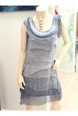 Blue Ombre Flutter Dress