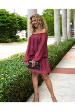 Merlot Silk Mini Dress
