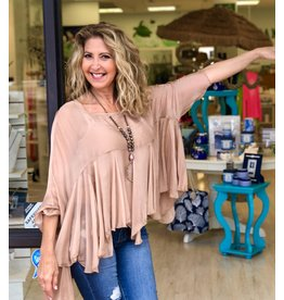 Champagne Boho Silk Top
