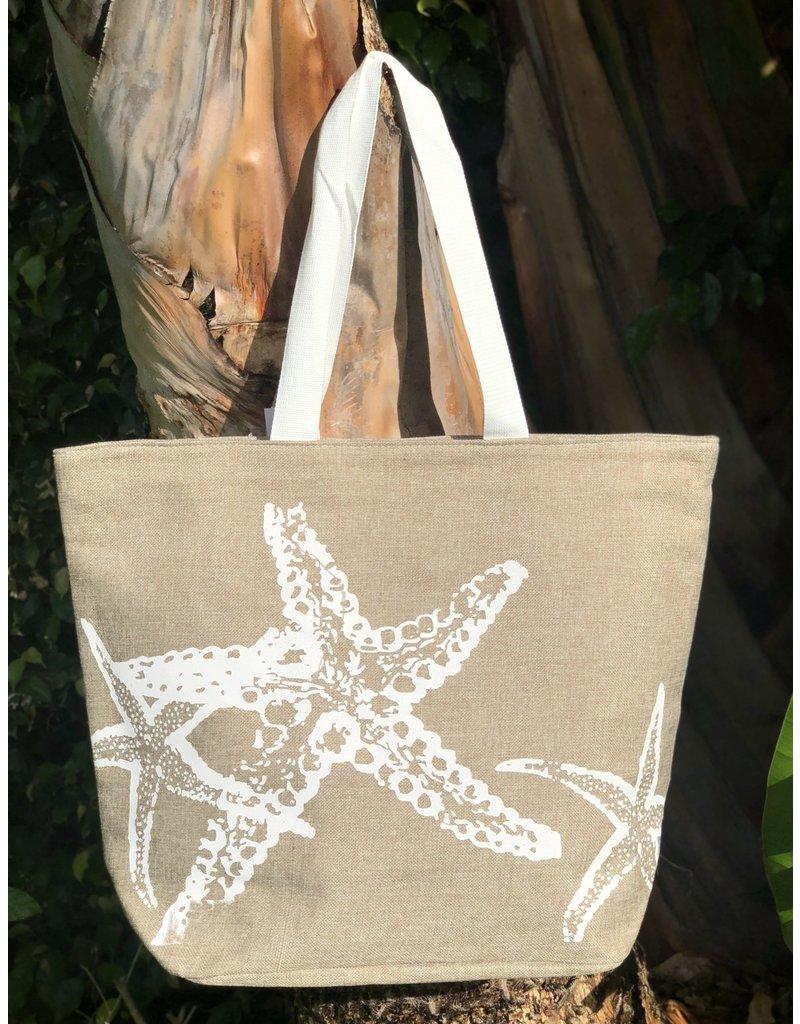 India Boutique Jute Starfish Beach Bag