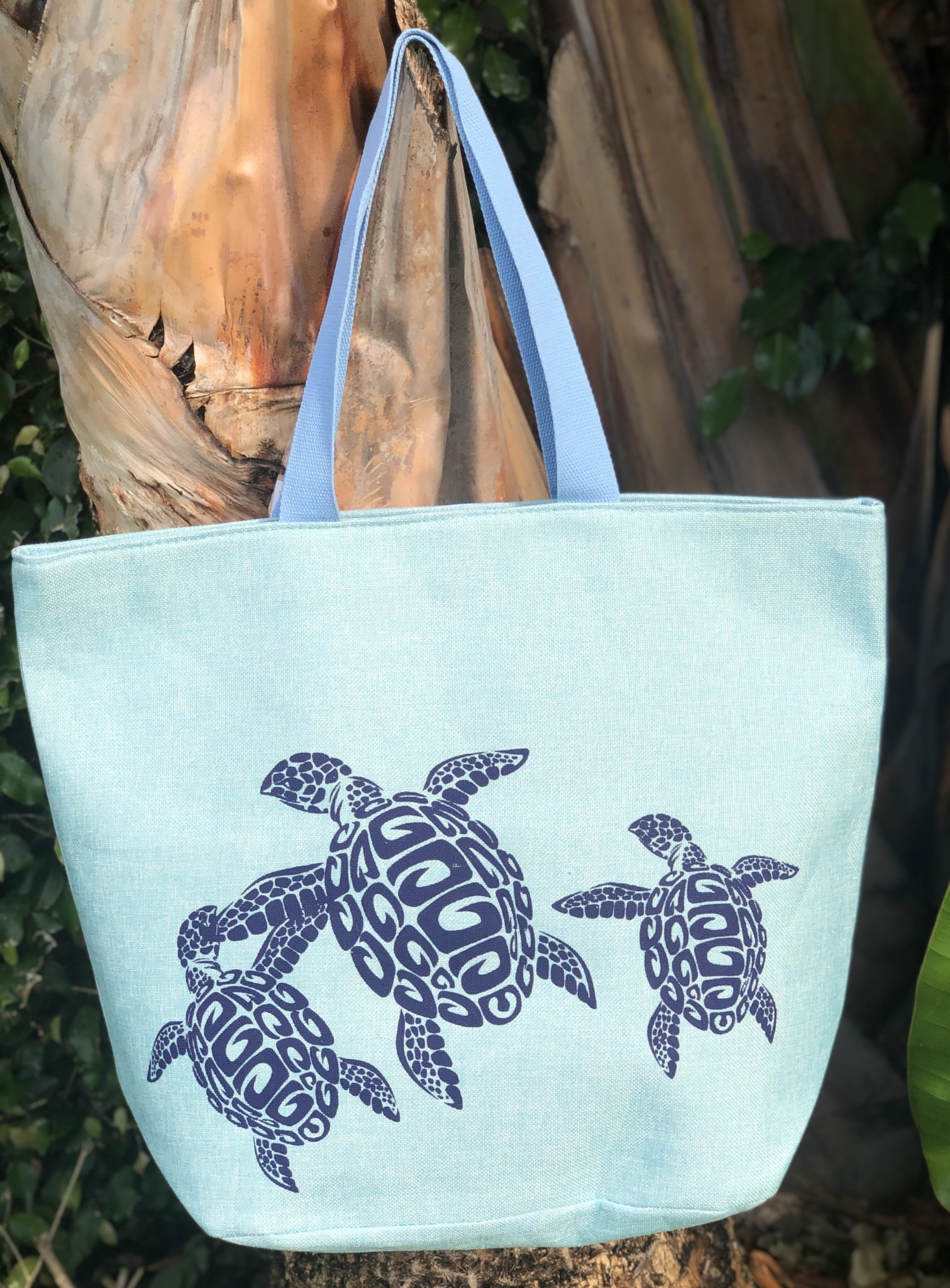 India Boutique Aqua Turtle Beach Bag