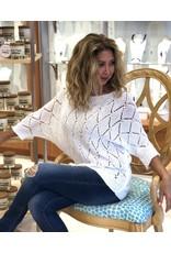 White Crochet Eyelet Sweater