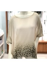 Champagne Cheetah Silk Top