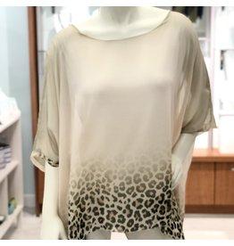 Champagne Cheetah Silk Top