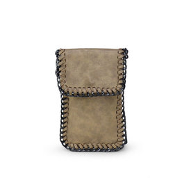 Gold Fold Over Chain Phone Pouch