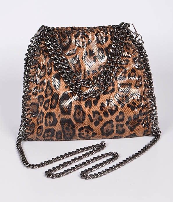 Leo Print Chain Bag