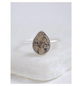 Felix X Silver Teardrop Druzy Ring