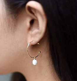 Felix X Gold 25mm Drop FWP Hoop Earrings