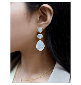 Felix X Triple Mother of Pearl Earrings