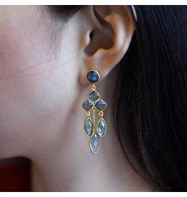 Felix X Chandelier Labradorite Earrings