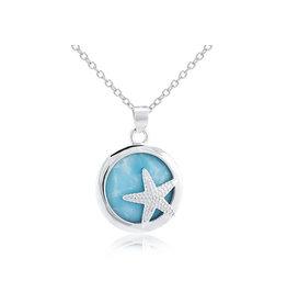 Sm Larimar Starfish Coin