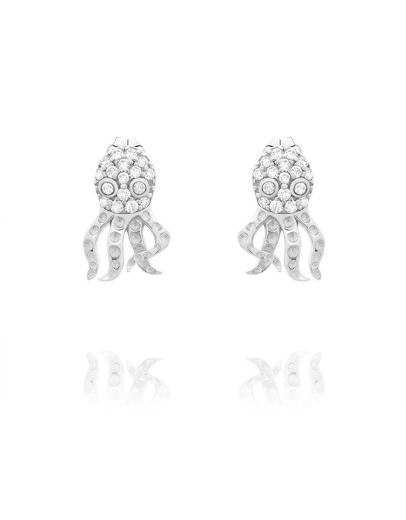 CZ Octopus Earrings