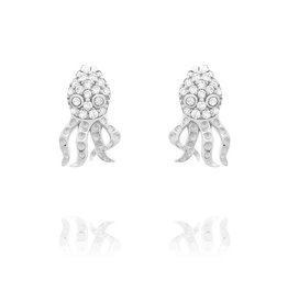 CZ Octopus Earrings