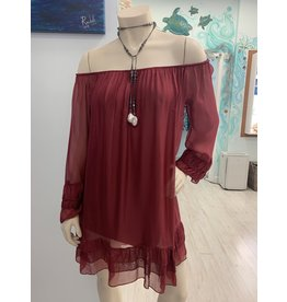 Merlot Ruffle Dress