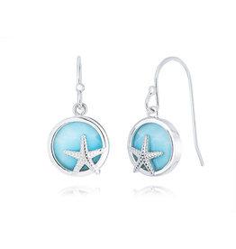 Larimar Starfish Earrings