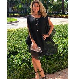 Black Silk Goddess Dress