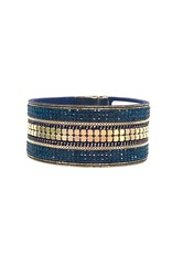 Sunrise USA Trading Navy Crystal Dot Bracelet