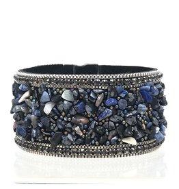 Sunrise USA Trading Navy Stone & Crystal Bracelet