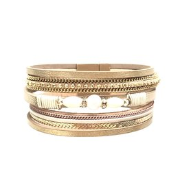 Sunrise USA Trading Gold Center Pearl Bracelet