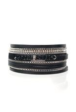 Sunrise USA Trading Black Crystal Bead Multi Bracelet