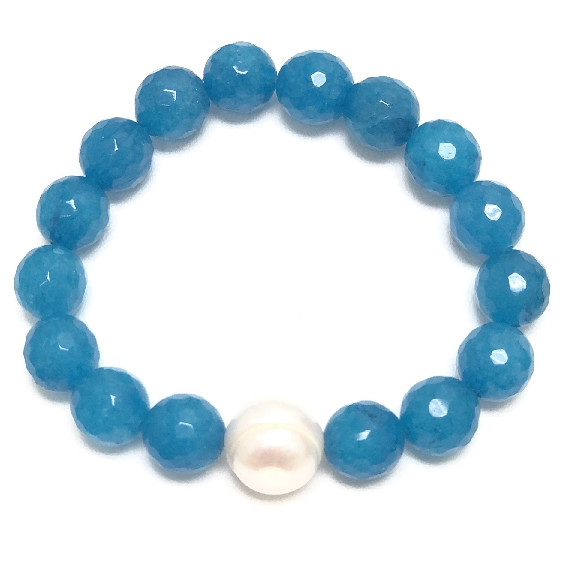 Caribbean Agate & FWP Bracelet