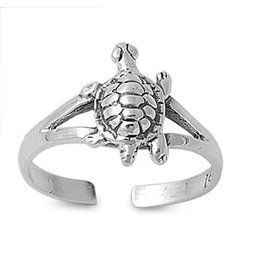 Sterling Turtle Toe Ring
