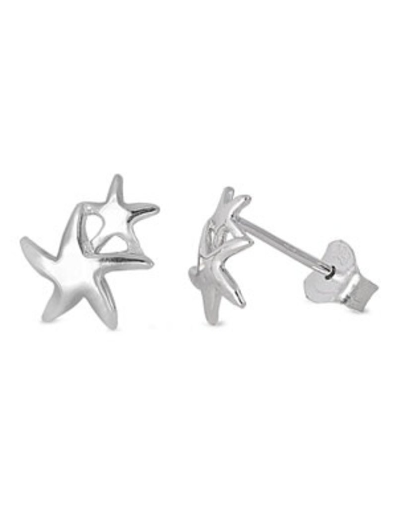 Mini Double Starfish Earrings