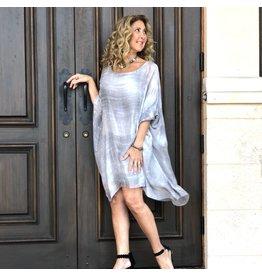 Aquavita Black Clover Tie Dye Sheer Dress