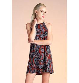 Dark Blossom Shift Dress