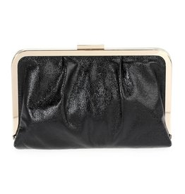 Black Metallic & Gold Clutch