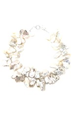 Large Keshi Pearl & Swarovski Necklace